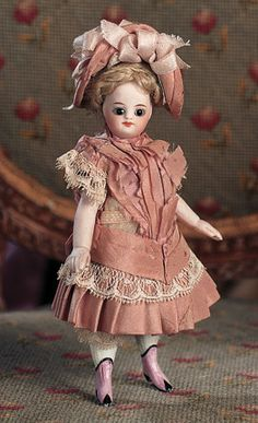 Silhouettes: 47 French All-Bisque Mignonette with Fancy Pink Boots