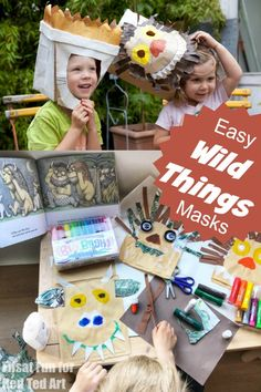 Easy Where the Wild Things Are Masks for Kids to make from Paper Bags. Super fun and easy costume idea for kids who don't like to dress up! The post Where the Wild Things Are & Paper Bag Mask Craft appeared first on Red Ted Art. Easy Halloween Crafts, Halloween Costumes For Kids, Preschool Crafts, Crafts For Kids, Tween Craft, Wild Things Costume, Paper Bag Crafts, Paper Bags, Fairy Tale Crafts
