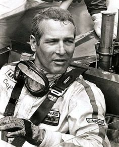Paul Newman on the race track.