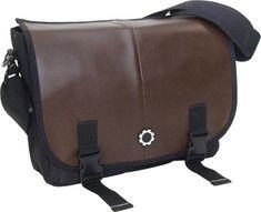 DadGear - Messenger Diaper Bag (Men's) - Professional Brown