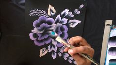 One Stroke Painting- Floral Composition