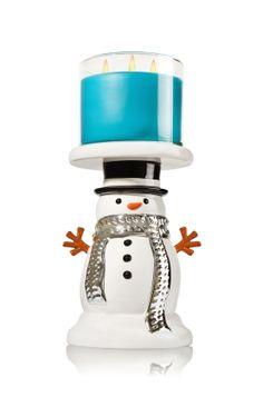 Snowman Pedestal 3-Wick Candle Holder - Home Fragrance 1037181 - Bath & Body Works