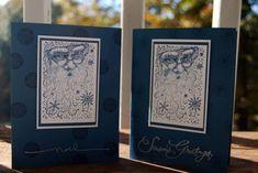 Splitcoaststampers FOOGallery - Santa Collage in Night of Navy Christmas Card Crafts, Christmas Cards To Make, Xmas Cards, Holiday Cards, Santa Christmas, Cool Cards, Diy Cards, Santa Stamp, Winter Cards