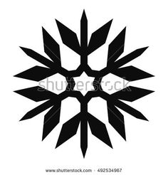 Snowflake Vector Icon For Backgrounds, Logos, Stickers, Labels, Tags And Other Design.
