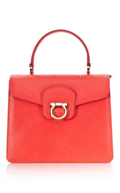 Ferragamo's perfect red tote.