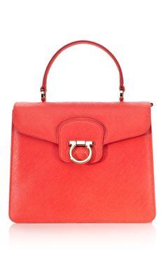 Ferragamo's perfect red tote.
