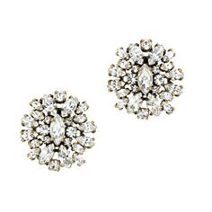 J.Crew studs, for a touch of sparkle.