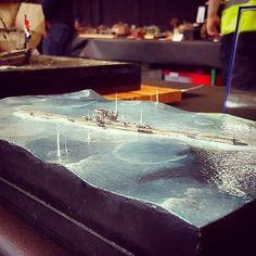 Beautiful!!! 1/350 diorama at EME 2017. Unknown modeler #scalemodel #plastimodelismo #miniatura #miniature #maqueta #maquette #modelismo #modelism #modelisme #scalemodelkit #plasticmodel #plastickits #usinadoskits #udk