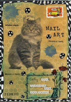 Mail Art, Christelle Plus Envelope Art, Envelope Design, Mix Media, Altered Books, Altered Art, Mail Art Envelopes, Fun Mail, Decorated Envelopes, Going Postal