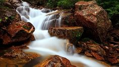 Rocky Forest Waterfall