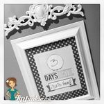 Trendy Count Down Template {free printable}