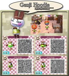 Animal Crossing New Leaf QR Code. Also posted on my tumblr: yookeyyook.tumblr.com/ I do not own Animal Crossing, only the art I make of it. Please do not post this elsewhere without permission. Fee...