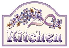 ArtbyJean - Purple Wood Roses: Make a pretty sign for your kitchen door with these clip art prints for your decoupage and paper crafts