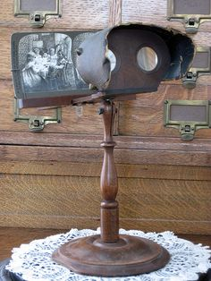 In the late 1850's, Oliver Wendell Holmes invented a handheld stereoscope, which really took off in America. Paper card stereo views were produced from the early 1850's until the 1930's. Through the years, stereo views were made in almost every medium known to photography. Millions of different views were created throughout the world during the Victorian era.