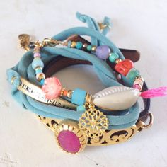 Unique : one of a kind jewelry by SOOS - gemstones, cowries, skull, turquoise, gold, jade