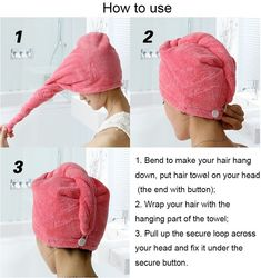 Bathroom Drying Microfiber Turban Soft Dry Hair Brush Bath Brushes Women's Spa Headband Shower Bathing Hats Towels For Adults Dry Hair, Hair Brush, Mode Turban, Bath Brushes, Techniques Couture, Shower Cap, Gifts Under 10, Last Minute Gifts, Bandeau