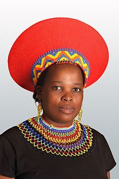 Zulu woman wearing traditional isicholo [hat or headdress? African Tribes, African Women, We Are The World, People Of The World, African Beauty, African Fashion, Zulu Women, African Culture, Cool Hats