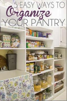 Five easy ways to organize your pantry.  Kitchen organization that will work fabulously for your family!