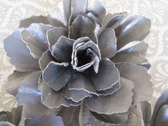 Handmade Gunmetal Gray Paper Flowers  Set of by mjsPaperCreations, $10.00