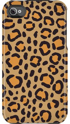 """Orange Leopard"" by Uncommon for the iPhone 4/4S Capsule"