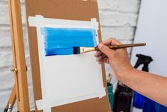 Painting a watercolor wash with dry paint