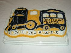 Purdue birthday cake made by annasmom. Picture from Cake Central.