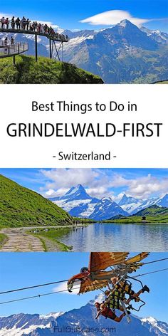 Complete guide to Grindelwald-First in Switzerland: things to do and suggested one day Grindelwald itinerary #switzerland Grindelwald Switzerland, Stuff To Do, Things To Do, Car Station, Best Hikes, Travel Aesthetic, Hiking Trails, Cool Places To Visit, Scenery