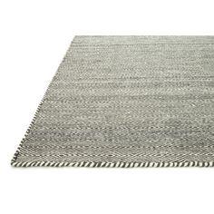 Hand-woven Poplin Smoke Wool/ Cotton Rug (7'10 x 11) | Overstock™ Shopping - Great Deals on Alexander Home 7x9 - 10x14 Rugs
