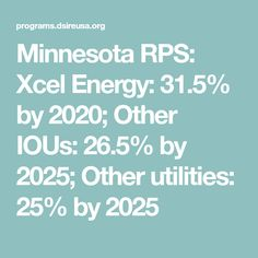 minnesota rps xcel energy by other ious by other utilities by 2025