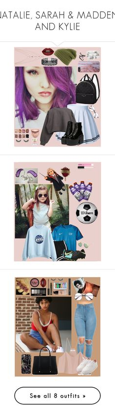 """NATALIE, SARAH & MADDEN, AND KYLIE"" by blank-minds ❤ liked on Polyvore featuring The North Face, Alex and Ani, Ettika, Miss Selfridge, Illamasqua, Too Faced Cosmetics, Smith & Cult, art, TIBI and La Perla"