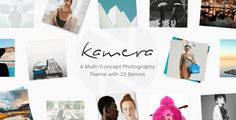 Kamera - A Beautiful Multi-Concept Photography Theme by Edge-Themes Theme FeaturesEasy-to-Use Powerful Admin Interface One-click import of demo site 23 distinct demos Photo Galleries Custom Post Typ