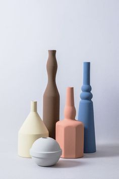 "styletaboo: "" Sonia Pedrazzini - Le Morandine V, handmade ceramic vase series "" Ceramic Pottery, Pottery Art, Ceramic Art, Vases, Free To Use Images, Keramik Vase, Still Life Photography, Color Inspiration, Ceramics"