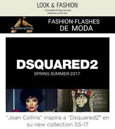 lookandfashion.hola.com/fashionflashesdemoda/ #dsquared2 #SS17 #Joan Collins #Dinasty #fashion #moda #fashionblogger #bloggersMadrid #lookandfashion #fashionflashesdemoda #HolaFashion #estilo #lifestyle #fashiondesigner #fashionlondon #sarahsuttonmoda