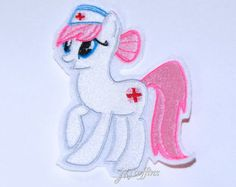 My Little Pony Nurse RedHeart Iron On Embroidery Patch MTCoffinz