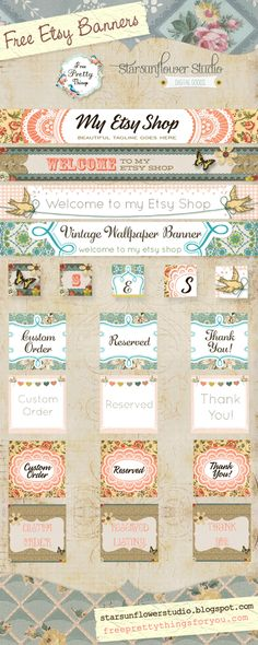 4 FREE Etsy Banner Collections!!!