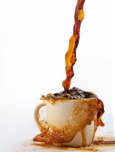 This is coffee abuse!! Look at all that coffee spilling over going to waste!! :( oh it makes me sad