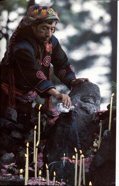 Highland Maya shaman in Guatemala. Contemporary Mayan practices.