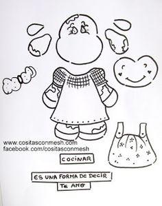 11 Moldes de vaquitas para hacer manualidades en foami y pintura ~ cositasconmesh