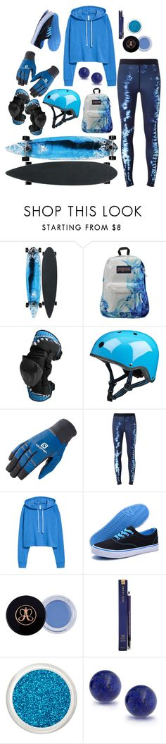 """skateboarding 017"" by huohu ❤ liked on Polyvore featuring JanSport, Salomon, Monreal, Dream Seek, Estée Lauder and Bling Jewelry"