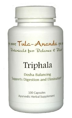 Tula Ananda Triphala 100 Capsules  Supports Tri-Doshic Balance, Vata, Pitta, Kapha ~ Offers gently cleansing, nourishing and rejuvenating actions Ayurvedic Products, Pitta, Cleanse, Herbalism, The 100, Herbal Medicine, Pies