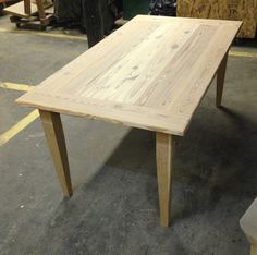 Reclaimed Wood Farm Table With Tapered Wood Legs By Decoratelier, $1400.00