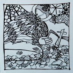 susan walker art: Artful Lent Drawing: Ash Wednesday 2016