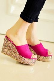 Fashion Suede Wedges - Shoes