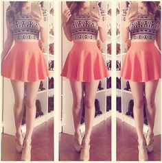 Image via We Heart It #clothes #fashion #girl #hair #outfit #shoes #skirt #style #top