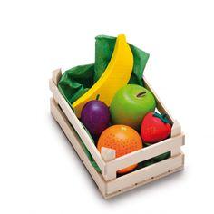 JOUET EN BOIS Petite Cagette assortiment de fruits