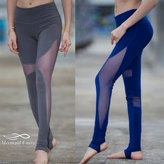 a562584fac Mermaid Curve Women Sport Fitness Leggings Elastic (2)  YogaPants  YogaPant   YogaLeggings