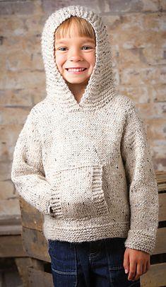 Knitting pattern for Jumping Bean Hoodie Pullover Sweater – Knitting Patterns Boys Kids Knitting Patterns, Knitting For Kids, Knitting Ideas, Baby Sweaters, Pullover Sweaters, Knit Sweaters, Hooded Sweater, Pull Bebe, Creative Knitting