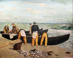 Unloading the Catch by Sean Keating, Ireland, Glasgow Girls, Irish Art, Celtic, Arts And Crafts, Fine Art, Painting, 1920s, Ireland, Artists
