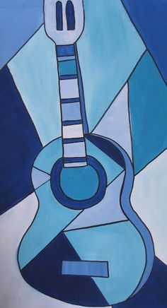 Guitar inspired by Picasso