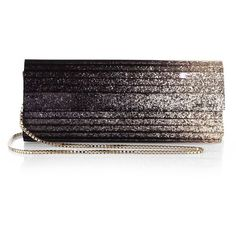 Jimmy Choo Sweetie Degrade Glitter Acrylic Clutch ($1,015) ❤ liked on Polyvore featuring bags, handbags, clutches, purses, clutches / wallets / purses, apparel & accessories, glitter handbags, chain strap purse, glitter purse and jimmy choo handbag